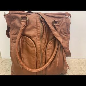 SALE🎉 Brown Leather Hobo Bag